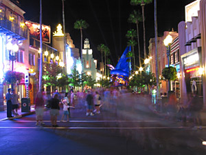 Nightime on Hollywood Boulevard, Disney Studios