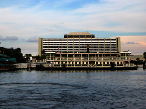 Contemporary Resort View from Bay Lake