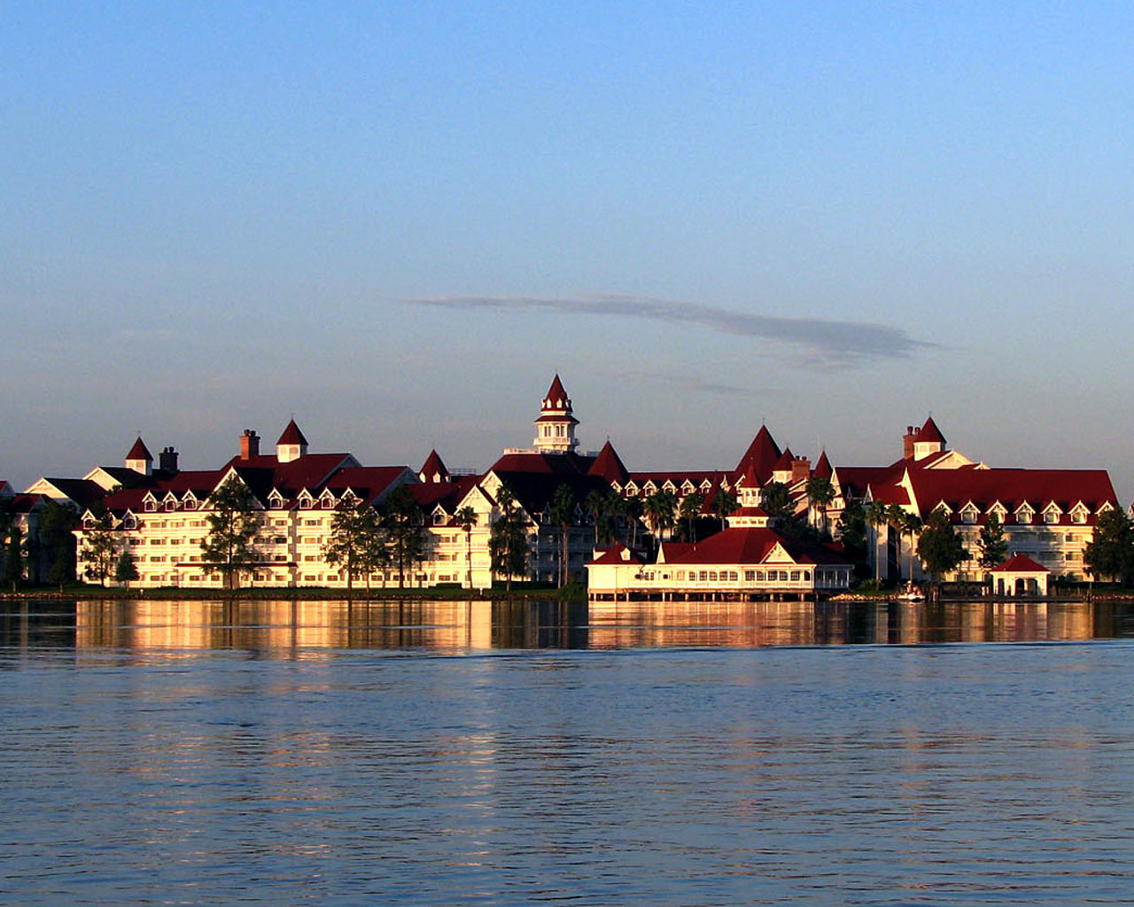 Grand floridian resort view from magic kingdom