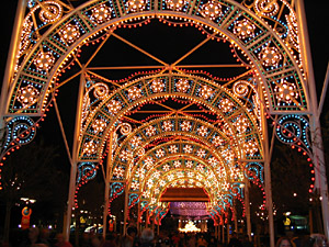 Christmas Light Arches, EPCOT Florida