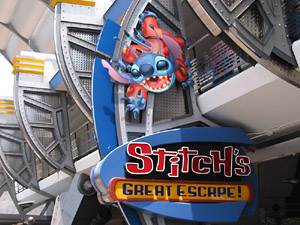 Signage for Lilo and Stitch themed, Stitch's Great Escape