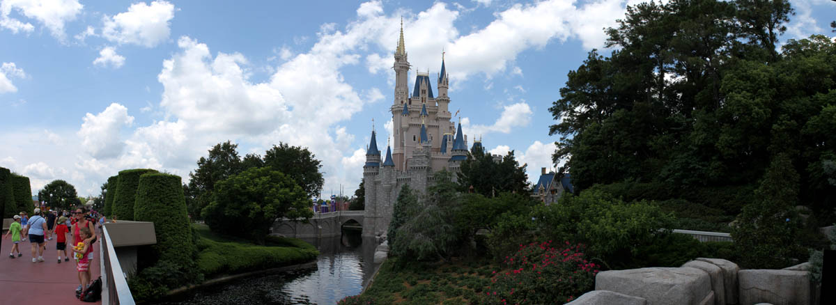 Cinderella's Castle Moat viewed from Tomorrowland